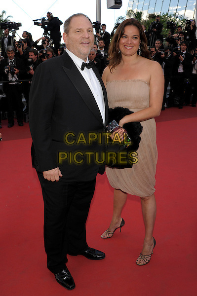 HARVEY WEINSTEIN & GUEST .'The Artist'  premiere at the Palais des Festivals  Cannes, 64th International Cannes Film Festival, France.15th May 2011..full length black bow tie tuxedo tux strapless beige dress .CAP/PL.©Phil Loftus/Capital Pictures.