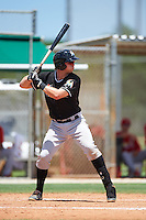 GCL Marlins catcher Matthew Foley (26) at bat during the second game of a doubleheader against the GCL Cardinals on August 13, 2016 at Roger Dean Complex in Jupiter, Florida.  GCL Cardinals defeated GCL Marlins 2-0.  (Mike Janes/Four Seam Images)