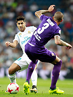 Real Madrid's Marco Asensio (l) and ACF Fiorentina's Cristiano Biraghi during Santiago Bernabeu Trophy. August 23,2017. (ALTERPHOTOS/Acero) /NortePhoto.com