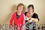 Joaney Audsley and Elaine O'Reilly who are organising badminton in Mountcollins Community Centre every Monday and Wednesday evening.