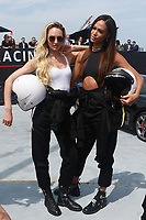 NEW YORK, NY - SEPTEMBER 12: Candice Swanepoel and Joan Smalls at Kia Race the Runway at  Pier 92/94 on September 12, 2017 in New York City. <br /> CAP/MPI99<br /> &copy;MPI99/Capital Pictures