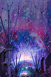 Fremont Street Experience neon at night, Las Vegas, Nev.