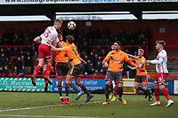 Ben Wilmot of Stevenage goes close during Stevenage vs Reading, Emirates FA Cup Football at the Lamex Stadium on 6th January 2018