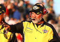 Jul. 26, 2013; Sonoma, CA, USA: NHRA official starter Mark Lyle during qualifying for the Sonoma Nationals at Sonoma Raceway. Mandatory Credit: Mark J. Rebilas-