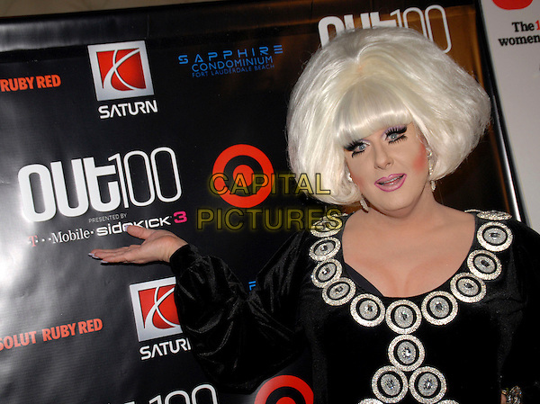 "LADY BUNNY.""Out""Magazine honors 100 most influential people in gay culture during ""Out 100 Awards"" at Capitale, New York, NY, USA, 10 November 2006..half length drag queen wig hair black dress hand on hip make-up eyelashes hand.Ref: ADM/PH.www.capitalpictures.com.sales@capitalpictures.com.©Paul Hawthorne/AdMedia/Capital Pictures. *** Local Caption ***"