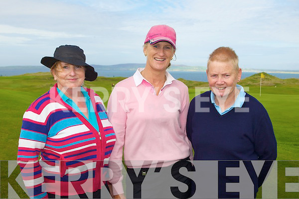CLASSIC: Competing in the Ardfert Quarry Ladies Master Classic at Tralee Golf Club on Sunday l-r: Angela Deenihan, Mary Murphy and Norah Quinlan.