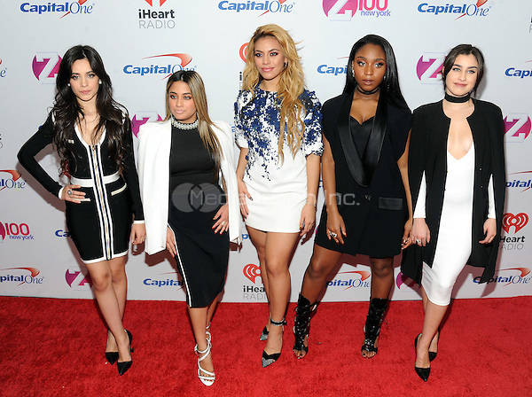 NEW YORK, NY - DECEMBER 11:  Fifth Harmony attends the Z100's iHeart Radio Jingle Ball 2015 at Madison Square Garden on December 11, 2015 in New York City.  Credit: John Palmer/MediaPunch