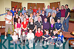 THE BIG 4-OH: Eddie Sheehy, Killeen Woods, Tralee (seated centre) having a great time celebrating his 40th birthday with family and friends at the Na Gaeil clubhouse, Tralee on Saturday.