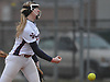 Jessica Budrewicz #9 of MacArthur delivers to the plate during a non-league varsity softball game against Massapequa at MacArthur High School on Tuesday, March 20, 2018. MacArthur won by a score of 3-0.
