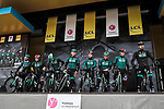 Bora-Hansgrohe on stage at the Team Presentation before the 78th edition of Paris-Nice 2020, Plaisir, France. 8th March 2020.<br /> Picture: ASO/Fabien Boukla | Cyclefile<br /> All photos usage must carry mandatory copyright credit (© Cyclefile | ASO/Fabien Boukla)
