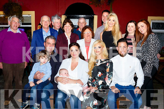 Parents Catriona O'Sullivan and Stephen Andreucetti celebrate the christening of baby Annabelle at St Brendans Church, Curraheen by Fr Francis Nolan on Satuday and after with family and friends at the Munster Bar