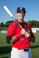 Kannapolis Intimidators infielder John Ziznewski (5) poses for a photo prior to the game against the Greensboro Grasshoppers at CMC-Northeast Stadium on August 1, 2015 in Kannapolis, North Carolina.  The Intimidators defeated the Grasshoppers 7-4.  (Brian Westerholt/Four Seam Images)