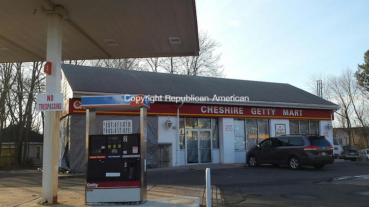 CHESHIRE - Jan. 20, 2015 - 01202015LX02 - This gas station and convenience store are expected to open in the spring after a renovation.