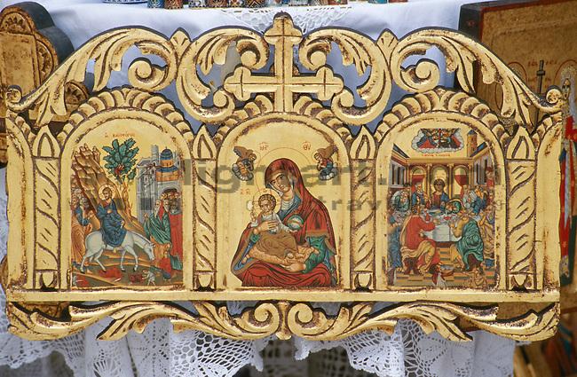 Omodos, near Troodos, icon as souvenir, Ikone, Cyprus. Zypern.