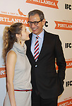 Jeff Goldblum & guest attend the Portlandia Season 2 Premiere Screening on January 5, 2012 at the American Museum of Natural History, New York City, New York. (Photo by Sue Coflin/Max Photos)