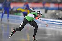 SCHAATSEN: AMSTERDAM: Olympisch Stadion, 28-02-2014, KPN NK Sprint/Allround, Coolste Baan van Nederland, Sven Kramer, ©foto Martin de Jong