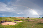 A rainbow across the 18th on Royal Dornoch as the Scottish Amateurs get in a last minute practice round before tomorrows first full day of play.Pic Kenny Smith, Kenny Smith Photography.6 Bluebell Grove, Kelty, Fife, KY4 0GX .Tel 07809 450119,