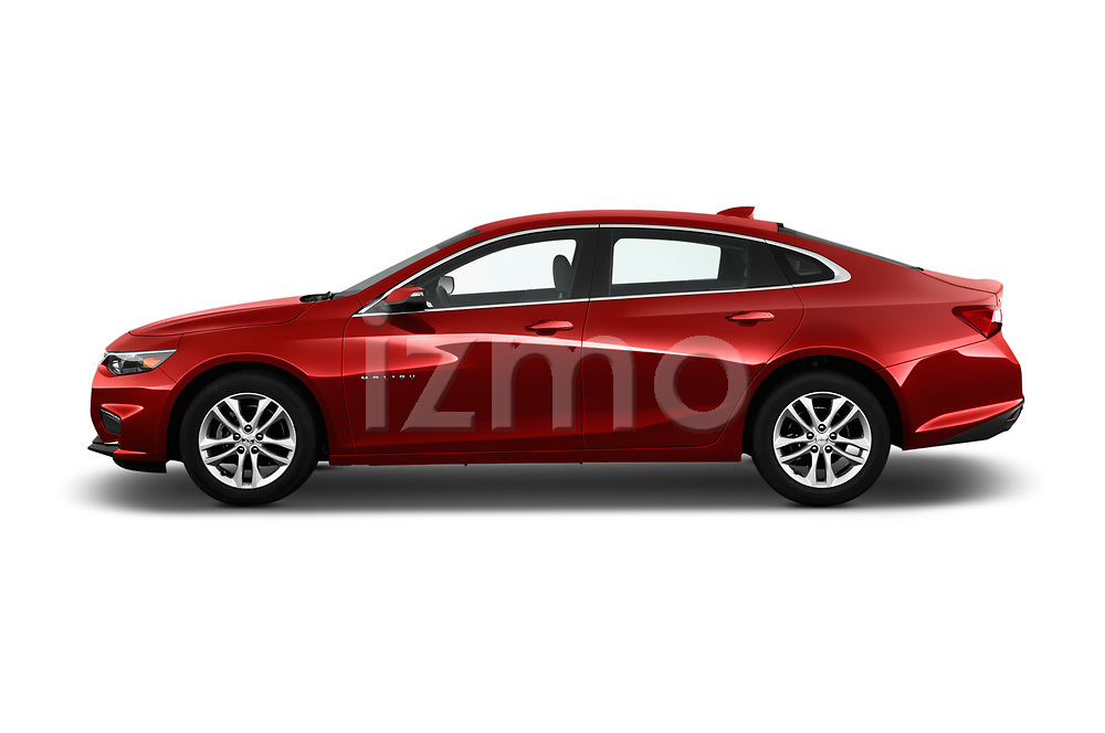 Car Driver side profile view of a 2016 Chevrolet Malibu 1LT 4 Door Sedan Side View