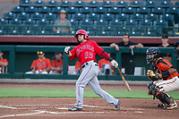 AZL Angels left fielder Stephen Kerr (16) bats during a game against the AZL Giants on July 10, 2017 at Scottsdale Stadium in Scottsdale, Arizona. AZL Giants defeated the AZL Angels 3-2. (Zachary Lucy/Four Seam Images)