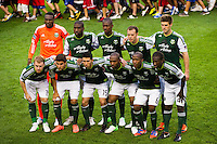 Portland Timbers starting eleven. The New York Red Bulls  defeated the Portland Timbers 3-2 during a Major League Soccer (MLS) match at Red Bull Arena in Harrison, NJ, on August 19, 2012.