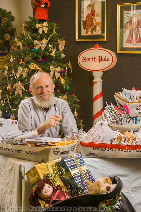 Gabby Gaborik and volunteer staff respond to thousands of Christmas letters addressed to Santa in North Pole Alaska.