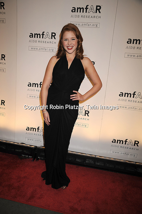 singer Renee Olstead..arriving at The amfAR New York Gala Kick Off for Fashion Week on February 12, 2009 at Ciprianis 42nd Street. ....Robin Platzer, Twin Images