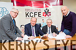 John Flynn, Director of Corporate Services KCC, Cllr Jim Finucane, chairman of Kerry ETB,  Colm McEvoy - Kerry ETB CEO, Peter Twist (county Board Sectreary) Signing of Agreements  at the Kerry College of Further Education on Monday