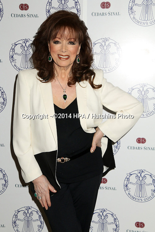 LOS ANGELES - APR 22:  Jackie Collins at the Women's Guild Cedars-Sinai Luncheon at Beverly Hills Hotel on April 22, 2014 in Beverly Hills, CA