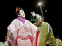 Twelfth Night after William Shakespeare,A Shochiku Grand Kabuki Production directed by Yukio Ninagawa.With Nakamura Kanjaku V as Sir Andrew Aguecheek , Ichikawa Danzo IX as Fabian. Opens at The Barbican Theatre on 24/3/09 CREDIT Geraint Lewis