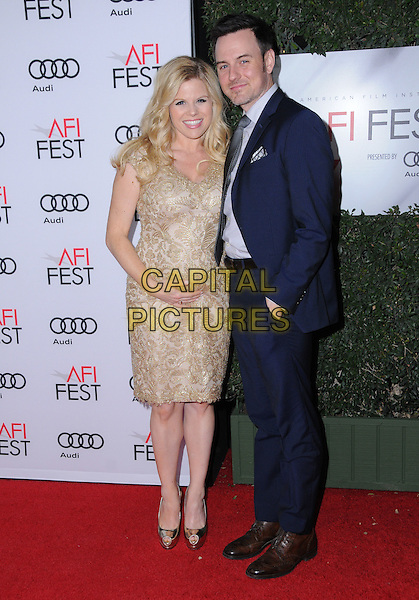 10 November 2016 - Hollywood, California. Megan Hilty, Brian Gallagher. AFI FEST 2016 - Opening Night Premiere Of &quot;Rules Don't Apply&quot; held at TCL Chinese Theater.  <br /> CAP/ADM/BT<br /> &copy;BT/ADM/Capital Pictures