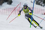 17th March 2018, Àvet Slope, Soldeu, Andorra; FIS Alpine Ski European Cup, Slalom Ladies Finals; #15 LIVK Klara from SLO during the Slalom Final
