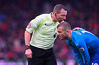 Referee Kevin Friend  has words with Jack Wilshere of Arsenal during AFC Bournemouth vs Arsenal, Premier League Football at the Vitality Stadium on 14th January 2018