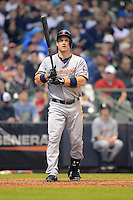 Minnesota Twins outfielder Josh Willingham #16 during a game against the Milwaukee Brewers at Miller Park on May 27, 2013 in Milwaukee, Wisconsin.  Minnesota defeated Milwaukee 6-3.  (Mike Janes/Four Seam Images)