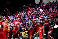 Washington, DC - September 8, 2019: Mystics fans do the wave during timeout of game between the Chicago Sky and Washington Mystics at the Entertainment and Sports Arena in Washington, DC. The Mystics locked up the #1 seed in the Playoffs by defeating the Sky 100-86. (Photo by Phil Peters/Media Images International)