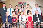 1602-1606.Badminton: Kerry Badminton Association held their Annual Prize Night/Social last Friday night in the Manor West Hotel, Tralee and attending were l-r: Junior Griffin (Chairman), Eileen O'Connor (PRO), Eileen Roche (Juvenile sec), Jennifer Keane (Juvenile chairperson) and John Brosnan (President). Back l-r: Michael Corridan (Vice Chairman), Maurice O'Shea (PRO), Peg Horan (Sec), Brid Murphy (Assistant Sec), Maria Maher (Tres) and Ollie Conyard (Vice Pres County Board).