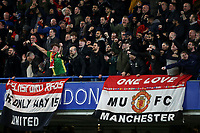 Manchester United fans celebrate their opening goal during Chelsea vs Manchester United, Emirates FA Cup Football at Stamford Bridge on 18th February 2019
