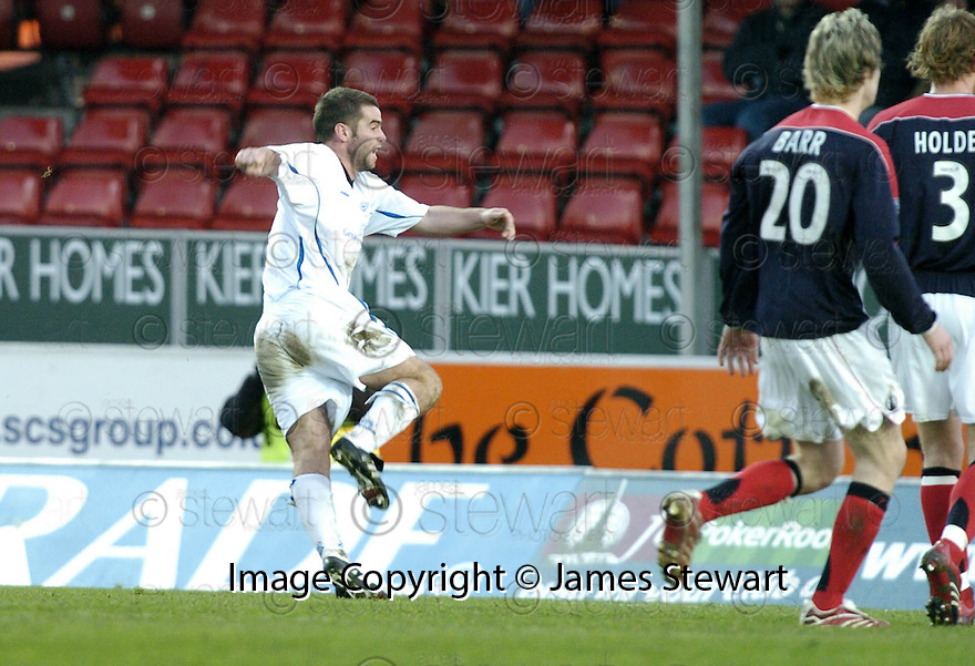 03/02/2007       Copyright Pic: James Stewart.File Name : sct_jspa24_falkirk_v_st_johnstone.PETER MACDONALD SCORES THE THIRD FOR SAINTS...James Stewart Photo Agency 19 Carronlea Drive, Falkirk. FK2 8DN      Vat Reg No. 607 6932 25.Office     : +44 (0)1324 570906     .Mobile   : +44 (0)7721 416997.Fax         : +44 (0)1324 570906.E-mail  :  jim@jspa.co.uk.If you require further information then contact Jim Stewart on any of the numbers above.........