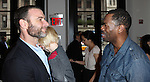 Liev Schreiber and Coleman Domingo attending the Unveiling of the Revitalized Public Theater at Astor Place in New York City on 10/4/2012.