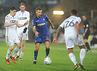 Bolton Wanderers' Gary O'Neil under pressure from Swansea City's Dan James<br /> <br /> Photographer Kevin Barnes/CameraSport<br /> <br /> The EFL Sky Bet Championship - Swansea City v Bolton Wanderers - Saturday 2nd March 2019 - Liberty Stadium - Swansea<br /> <br /> World Copyright © 2019 CameraSport. All rights reserved. 43 Linden Ave. Countesthorpe. Leicester. England. LE8 5PG - Tel: +44 (0) 116 277 4147 - admin@camerasport.com - www.camerasport.com