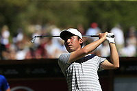 Doug Ghim (USA) tees off the 6th tee during Sunday's Final Round 4 of the 2018 Omega European Masters, held at the Golf Club Crans-Sur-Sierre, Crans Montana, Switzerland. 9th September 2018.<br /> Picture: Eoin Clarke | Golffile<br /> <br /> <br /> All photos usage must carry mandatory copyright credit (&copy; Golffile | Eoin Clarke)