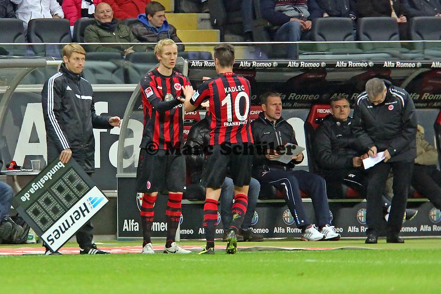 Jan Rosenthal kommt für Vaclav Kadlec (Eintracht) - Eintracht Frankfurt vs. FC Schalke 04, Commerzbank Arena