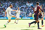 Real Madrid's player Daniel Carvajal and Eibar FC's player Antonio Luna during a match of La Liga Santander at Santiago Bernabeu Stadium in Madrid. October 02, Spain. 2016. (ALTERPHOTOS/BorjaB.Hojas)