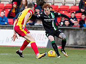 2nd December 2017, Firhill Stadium, Glasgow, Scotland; Scottish Premiership football, Partick Thistle versus Hibernian; Simon Murray of Hibernian