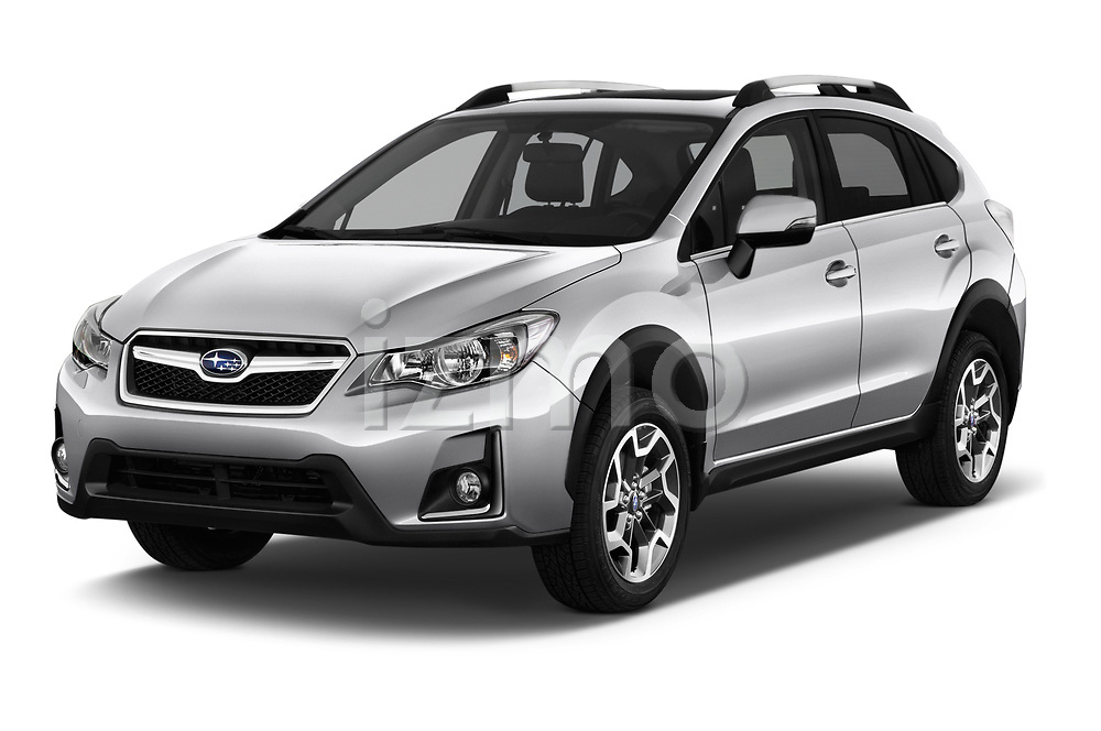 2017 Subaru XV Premium 5 Door SUV angular front stock photos of front three quarter view