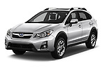 2017 Subaru XV Premium 5 Door SUV angular front stock photos of front three quarter view