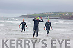 Martin O'Regan, Cathy Fisher and John Roche at the  Ballyheigue Festival Swim on Thursday