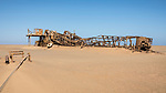 Site Of An Old Oil Exploratory Rig On The Skeleton Coast.
