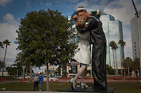 Unconditional Love statue makes way back to Marina Jack, Sarasota, Florida.