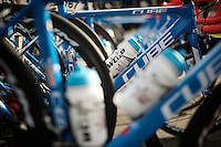 bikes lined up at the team bus<br /> <br /> GP Samyn 2016