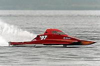 Scott Liddycoat, Y-97, 1.5 Litre Mod class hydroplane.Syracuse Hydrofest, Onondaga Lake, Syracuse, NY.20/21 June, 2009, Dayton, OH USA..©F. Peirce Williams 2009 USA.F.Peirce Williams.photography.ref: RAW (.NEF) File Available